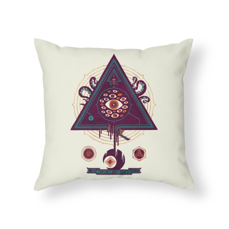 All Seeing Home Throw Pillow by againstbound's Artist Shop