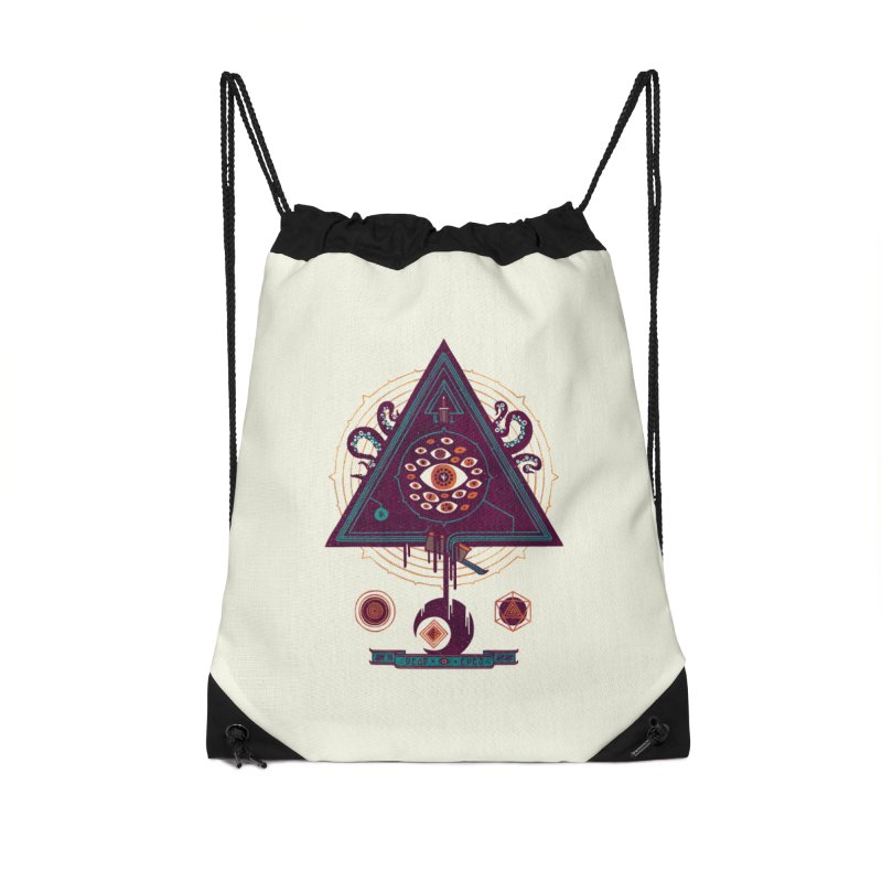 All Seeing Accessories Drawstring Bag Bag by againstbound's Artist Shop