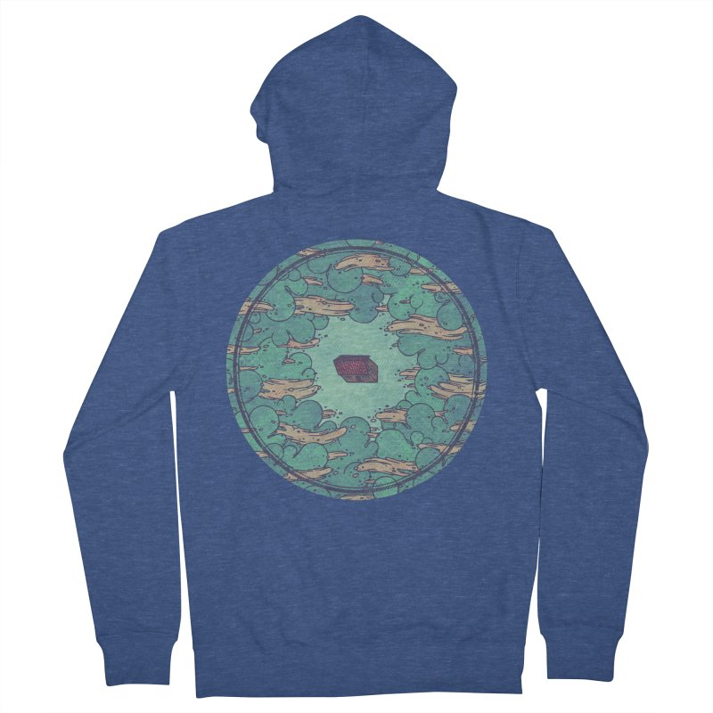 Away From Everything Men's French Terry Zip-Up Hoody by againstbound's Artist Shop