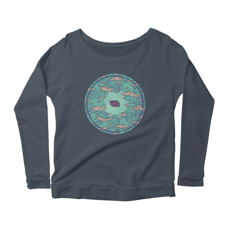 Away From Everything Women's Longsleeve Scoopneck  by againstbound's Artist Shop