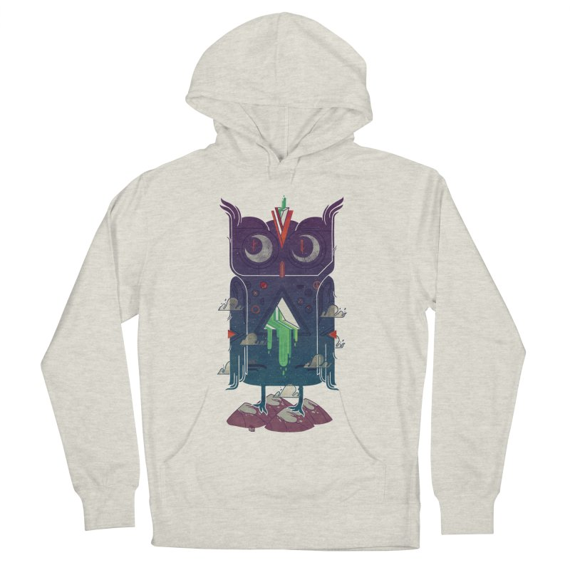 Night Owl Men's French Terry Pullover Hoody by againstbound's Artist Shop