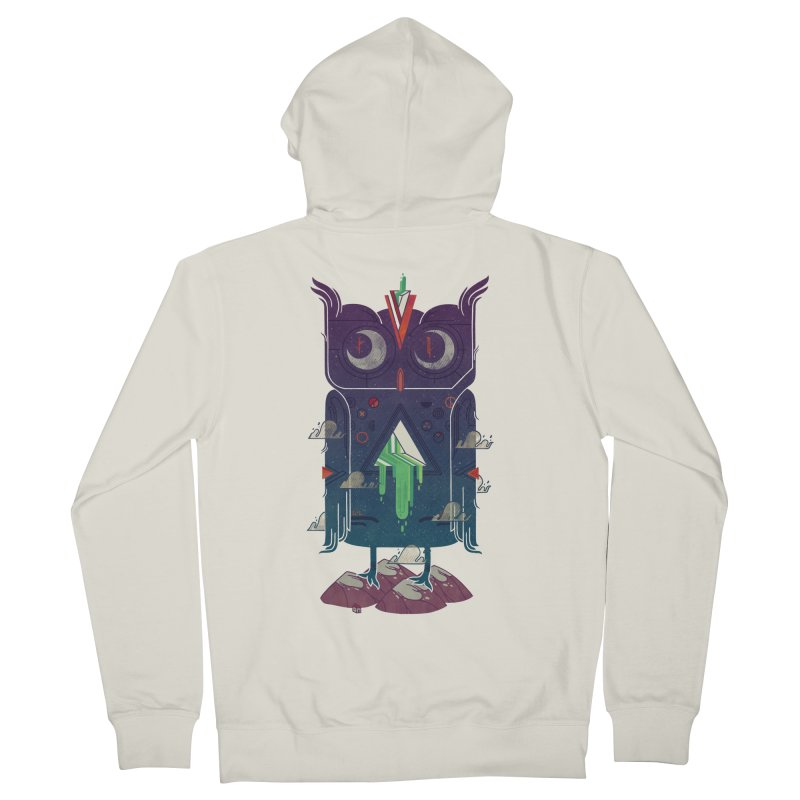 Night Owl Men's French Terry Zip-Up Hoody by againstbound's Artist Shop