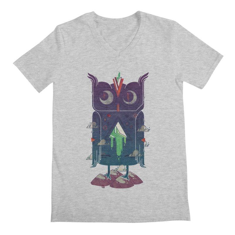 Night Owl Men's Regular V-Neck by againstbound's Artist Shop