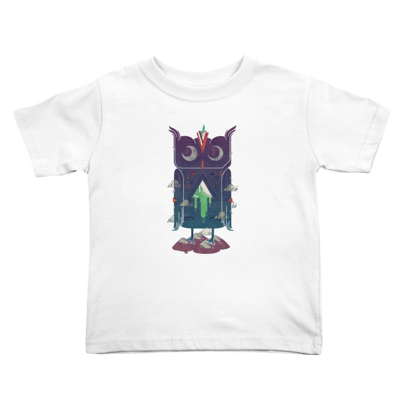 Night Owl Kids Toddler T-Shirt by againstbound's Artist Shop