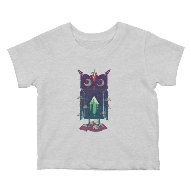 Night Owl Kids Baby T-Shirt by againstbound's Artist Shop