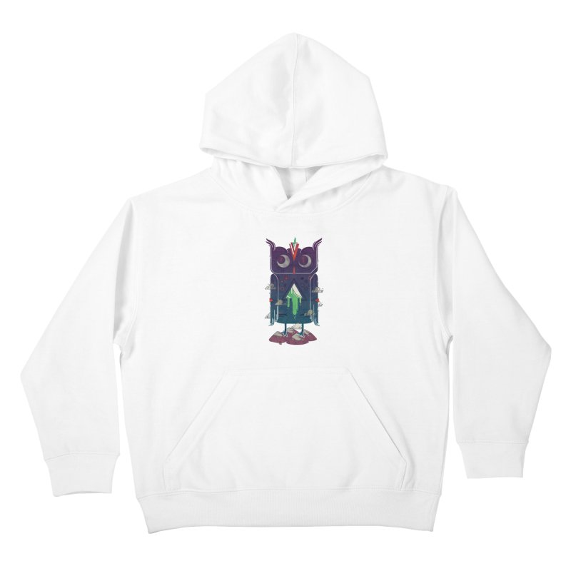 Night Owl Kids Pullover Hoody by againstbound's Artist Shop