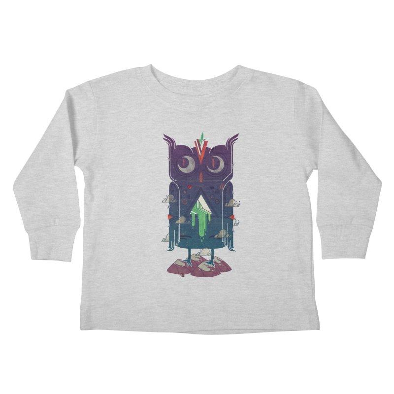 Night Owl Kids Toddler Longsleeve T-Shirt by againstbound's Artist Shop
