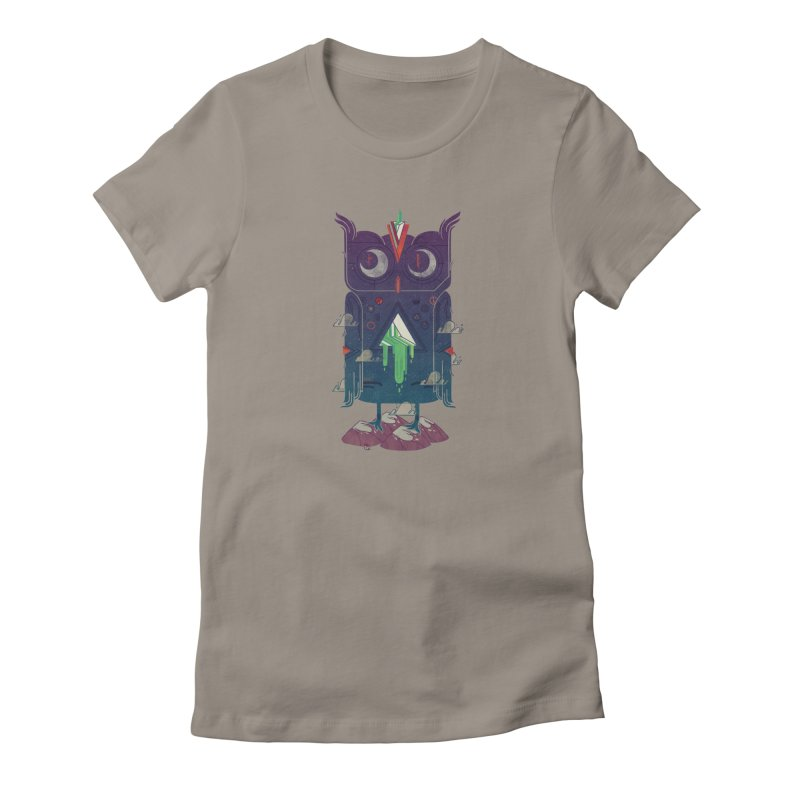Night Owl Women's French Terry Zip-Up Hoody by againstbound's Artist Shop