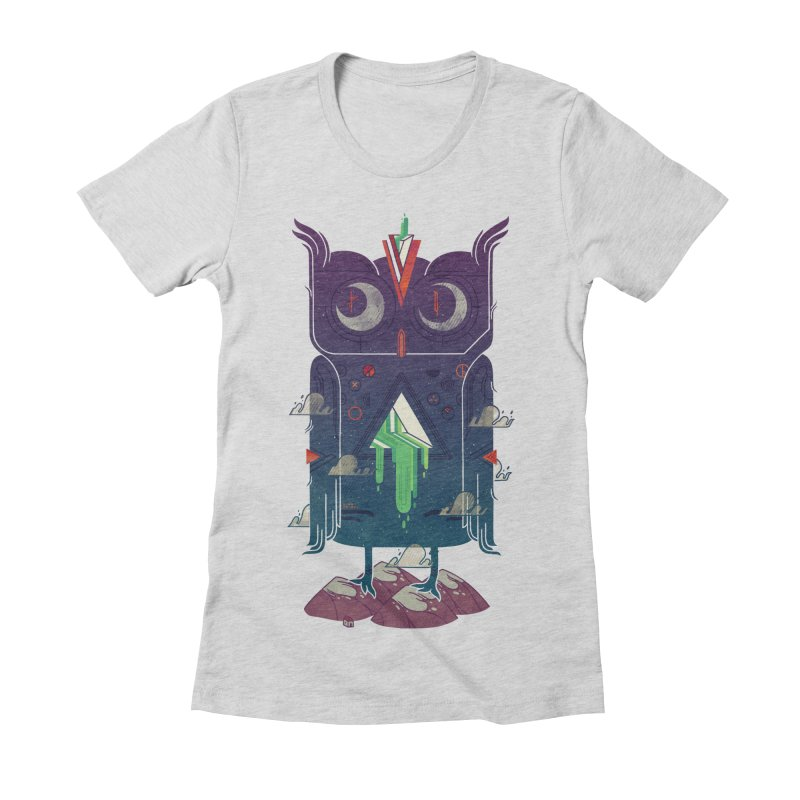 Night Owl Women's Fitted T-Shirt by againstbound's Artist Shop