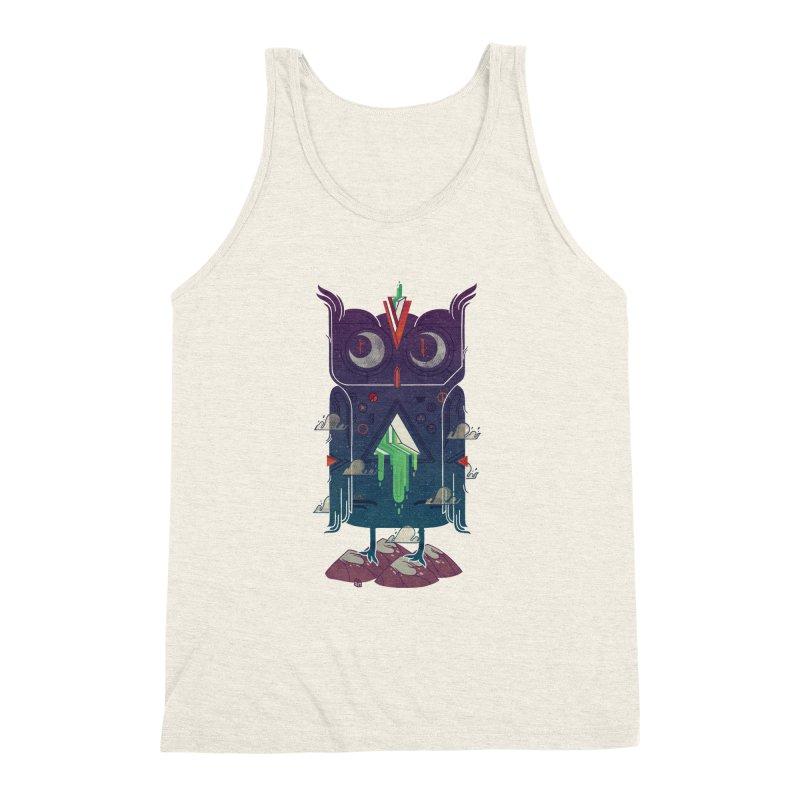 Night Owl Men's Triblend Tank by againstbound's Artist Shop
