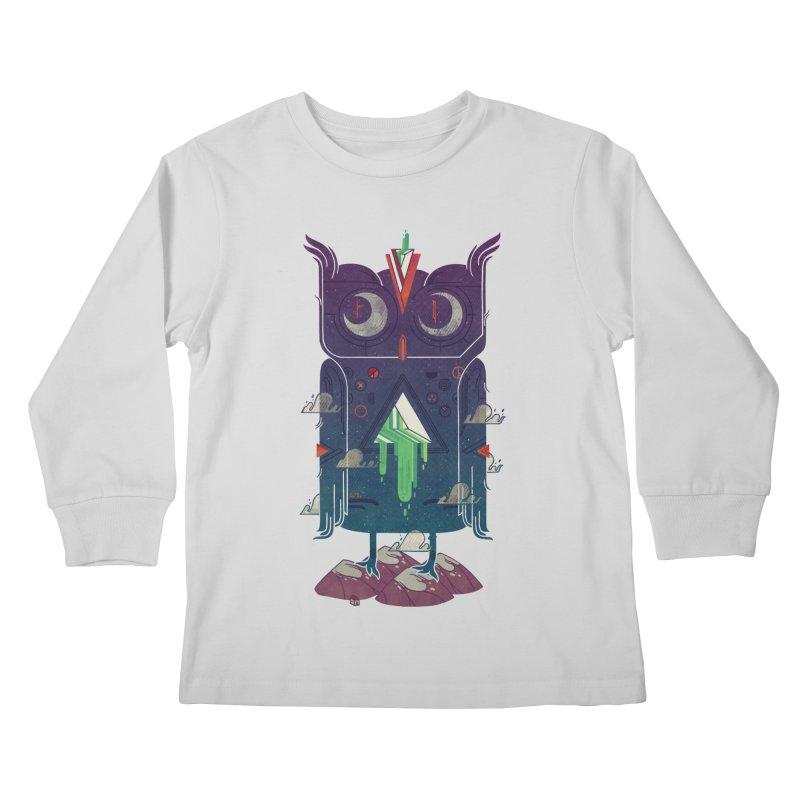 Night Owl Kids Longsleeve T-Shirt by againstbound's Artist Shop