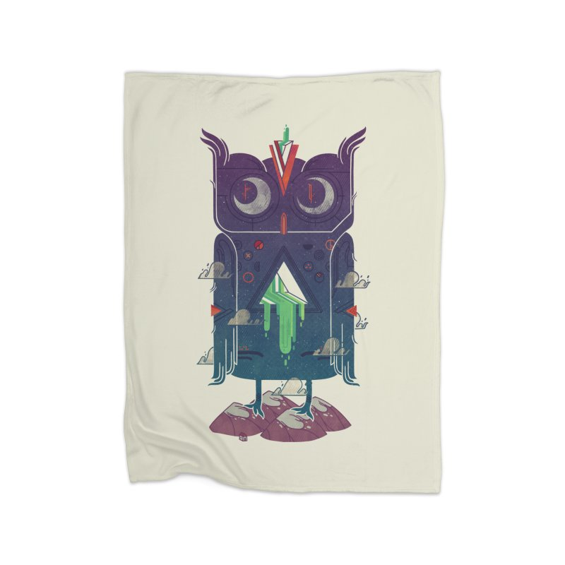 Night Owl Home Fleece Blanket by againstbound's Artist Shop