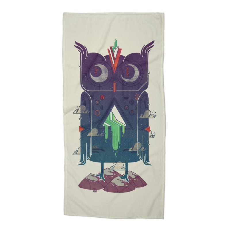 Night Owl Accessories Beach Towel by againstbound's Artist Shop
