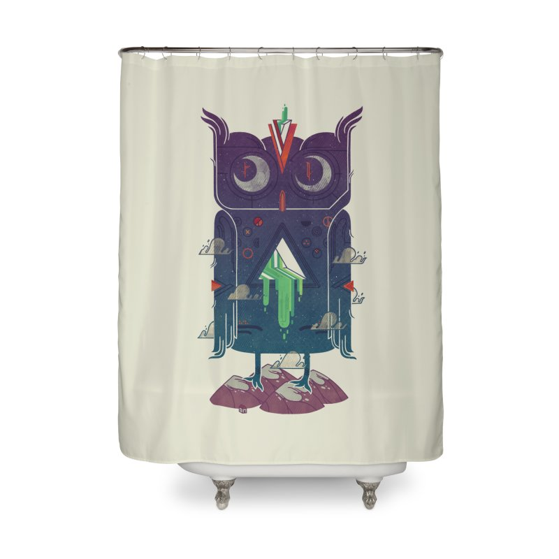 Night Owl Home Shower Curtain by againstbound's Artist Shop
