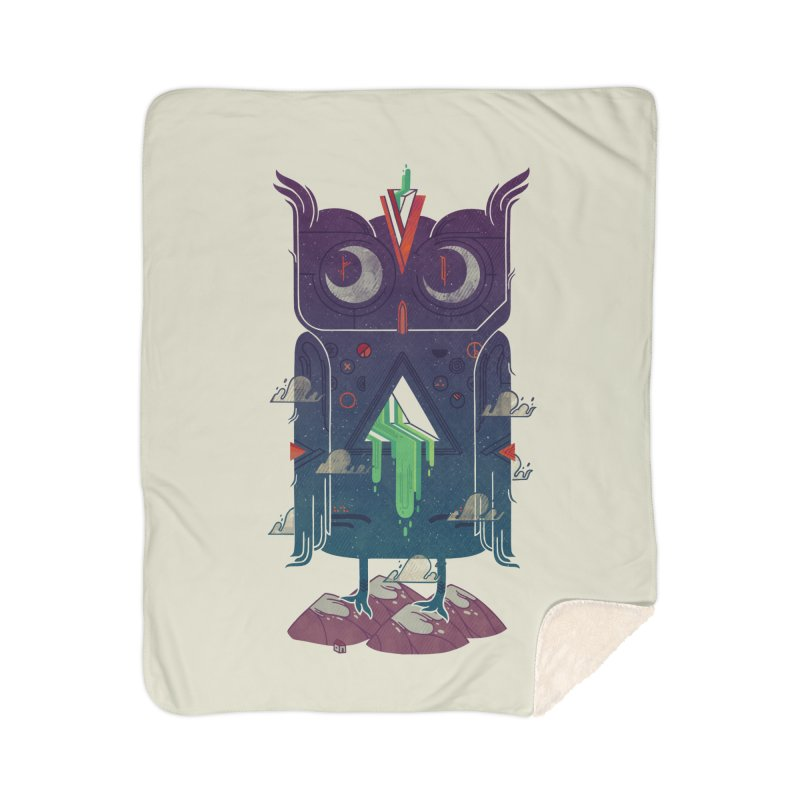 Night Owl Home Sherpa Blanket Blanket by againstbound's Artist Shop