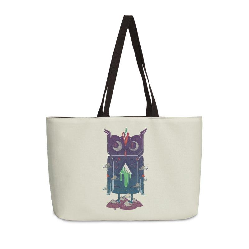 Night Owl Accessories Weekender Bag Bag by againstbound's Artist Shop