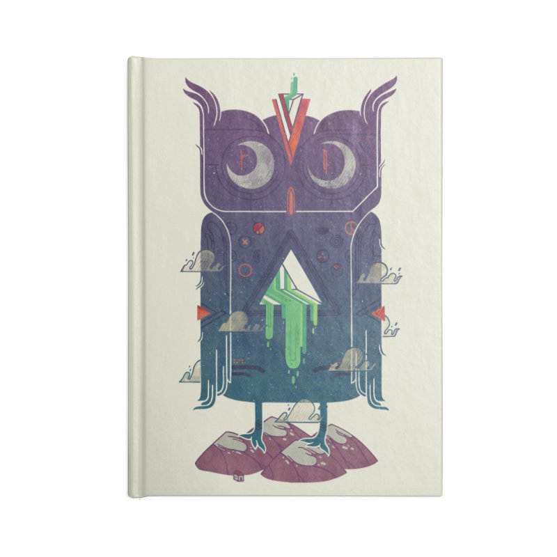 Night Owl Accessories Lined Journal Notebook by againstbound's Artist Shop