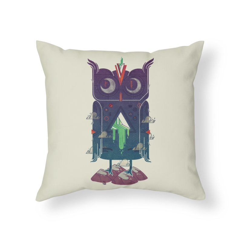 Night Owl Home Throw Pillow by againstbound's Artist Shop