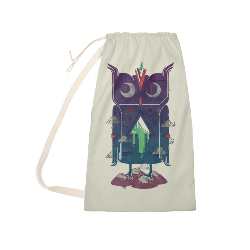 Night Owl Accessories Laundry Bag Bag by againstbound's Artist Shop
