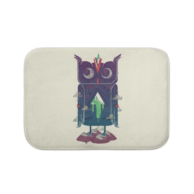 Night Owl Home Bath Mat by againstbound's Artist Shop