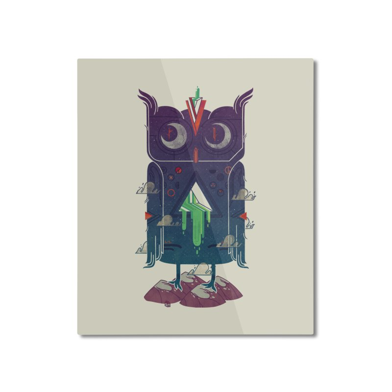 Night Owl Home Mounted Aluminum Print by againstbound's Artist Shop