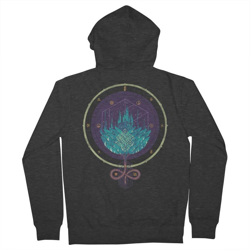 Fading Dahlia Women's French Terry Zip-Up Hoody by againstbound's Artist Shop