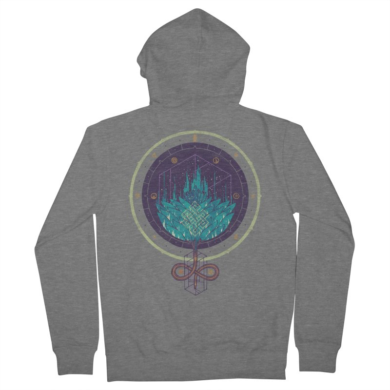 Fading Dahlia Men's Zip-Up Hoody by againstbound's Artist Shop