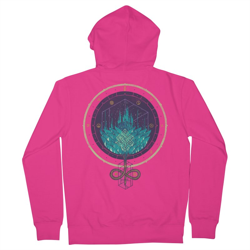 Fading Dahlia Men's French Terry Zip-Up Hoody by againstbound's Artist Shop
