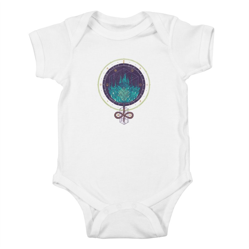 Fading Dahlia Kids Baby Bodysuit by againstbound's Artist Shop