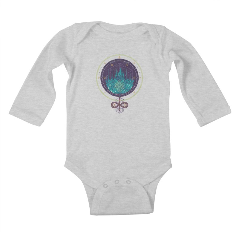 Fading Dahlia Kids Baby Longsleeve Bodysuit by againstbound's Artist Shop