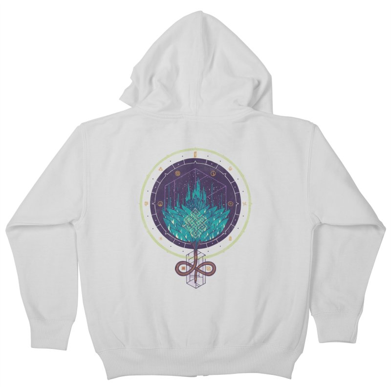 Fading Dahlia Kids Zip-Up Hoody by againstbound's Artist Shop