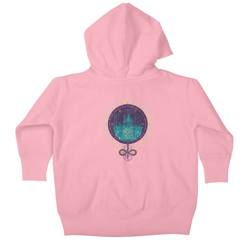 Fading Dahlia Kids Baby Zip-Up Hoody by againstbound's Artist Shop