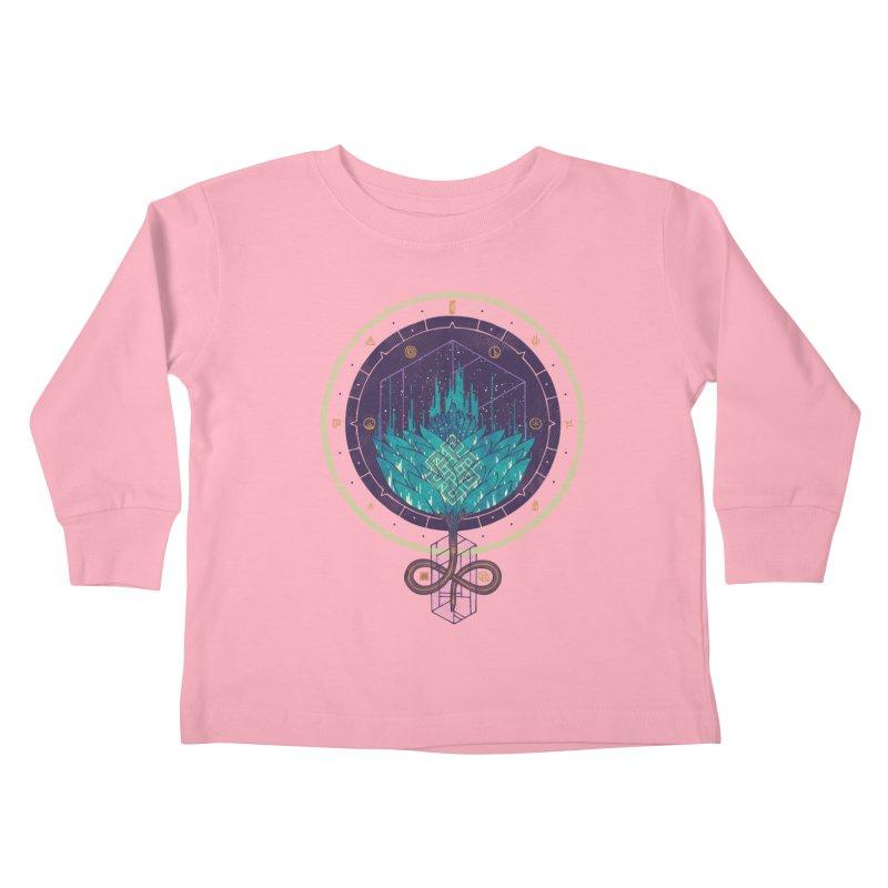 Fading Dahlia Kids Toddler Longsleeve T-Shirt by againstbound's Artist Shop