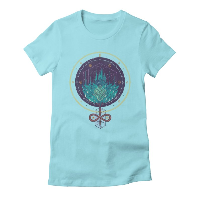 Fading Dahlia Women's Fitted T-Shirt by againstbound's Artist Shop