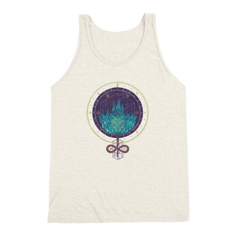 Fading Dahlia Men's Triblend Tank by againstbound's Artist Shop