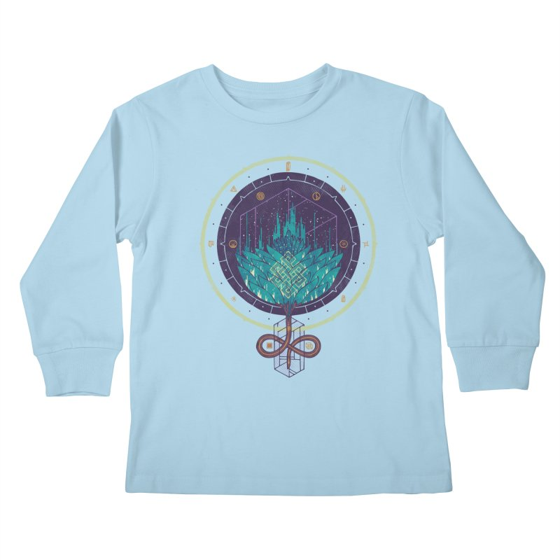 Fading Dahlia Kids Longsleeve T-Shirt by againstbound's Artist Shop