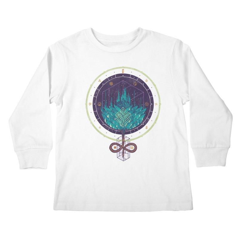 Fading Dahlia Kids Longsleeve T-Shirt by againstbound's Artist Shop