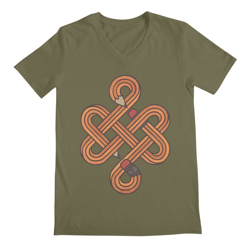 Endless Creativity Men's Regular V-Neck by againstbound's Artist Shop