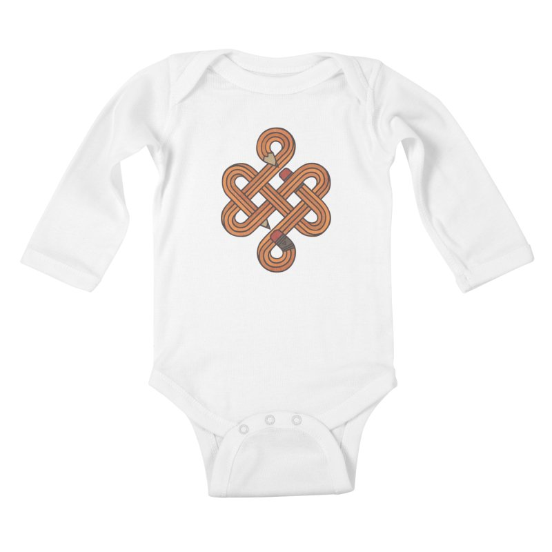 Endless Creativity Kids Baby Longsleeve Bodysuit by againstbound's Artist Shop