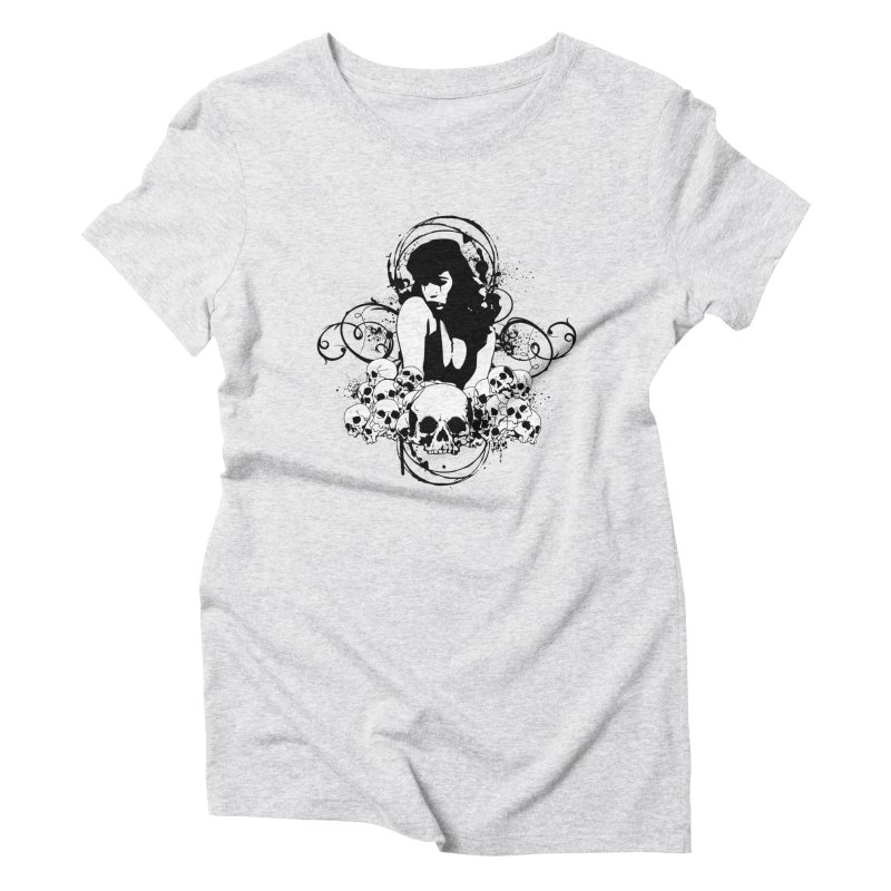 The Patron Saint of Pin-Ups Women's Triblend T-Shirt by A Ghost In Every Room