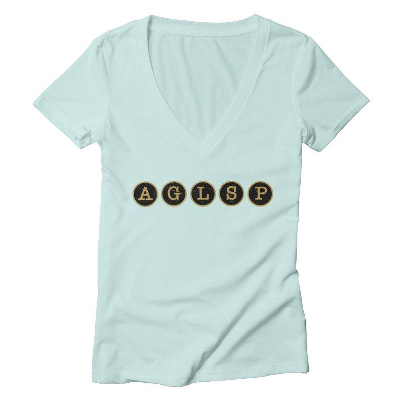AGLSP Logo Sans Tagline Women's Deep V-Neck V-Neck by AGLSP's Swag Shoppe