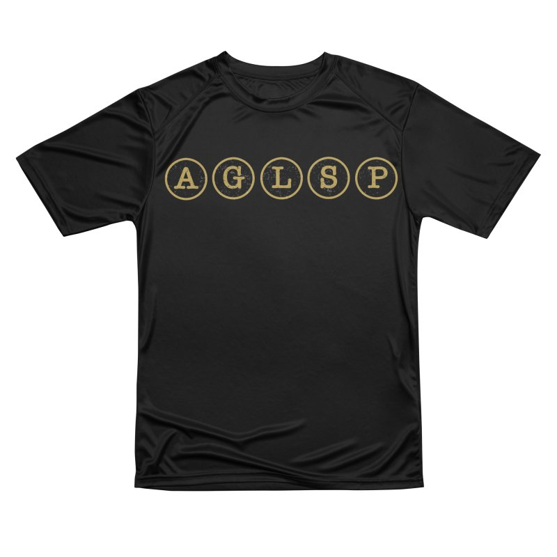 AGLSP Logo Sans Tagline Men's Performance T-Shirt by AGLSP's Swag Shoppe