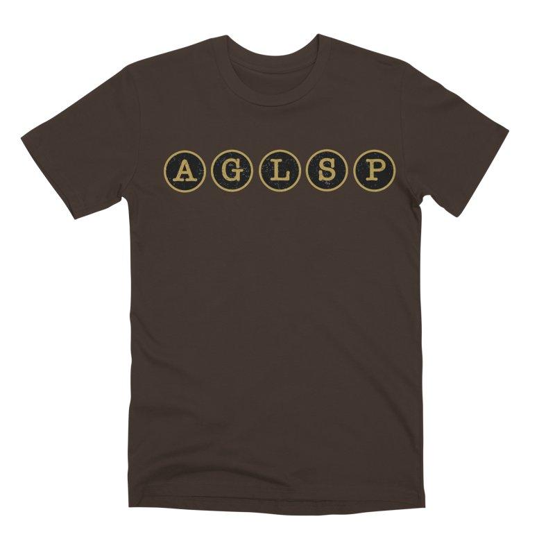 AGLSP Logo Sans Tagline Men's Premium T-Shirt by AGLSP's Swag Shoppe