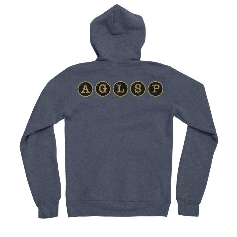 AGLSP Logo Sans Tagline Men's Sponge Fleece Zip-Up Hoody by AGLSP's Swag Shoppe