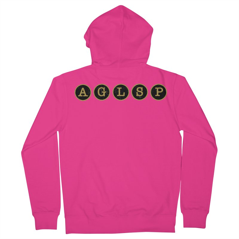 AGLSP Logo Sans Tagline Men's French Terry Zip-Up Hoody by AGLSP's Swag Shoppe