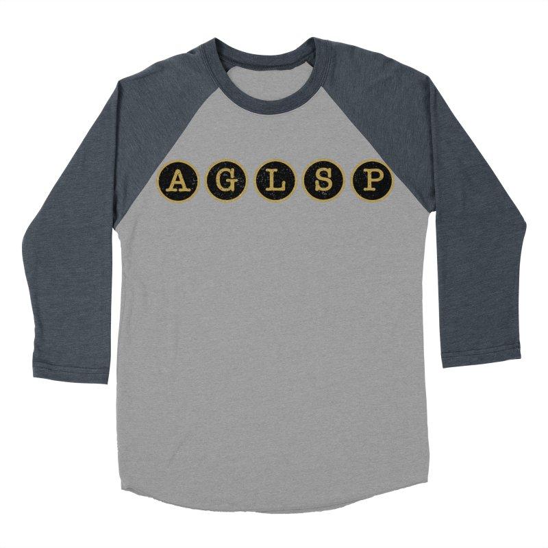AGLSP Logo Sans Tagline Men's Baseball Triblend Longsleeve T-Shirt by AGLSP's Swag Shoppe