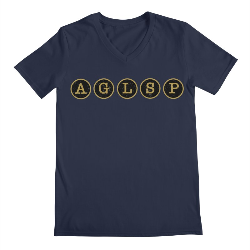 AGLSP Logo Sans Tagline Men's Regular V-Neck by AGLSP's Swag Shoppe