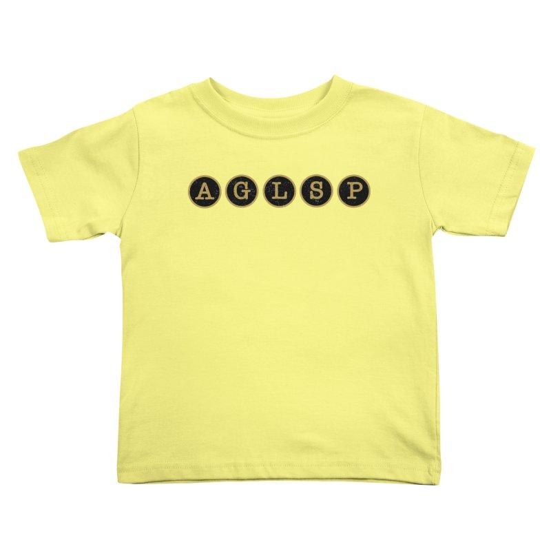 AGLSP Logo Sans Tagline Kids Toddler T-Shirt by AGLSP's Swag Shoppe