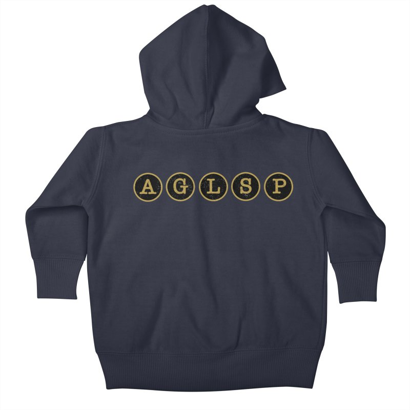 AGLSP Logo Sans Tagline Kids Baby Zip-Up Hoody by AGLSP's Swag Shoppe