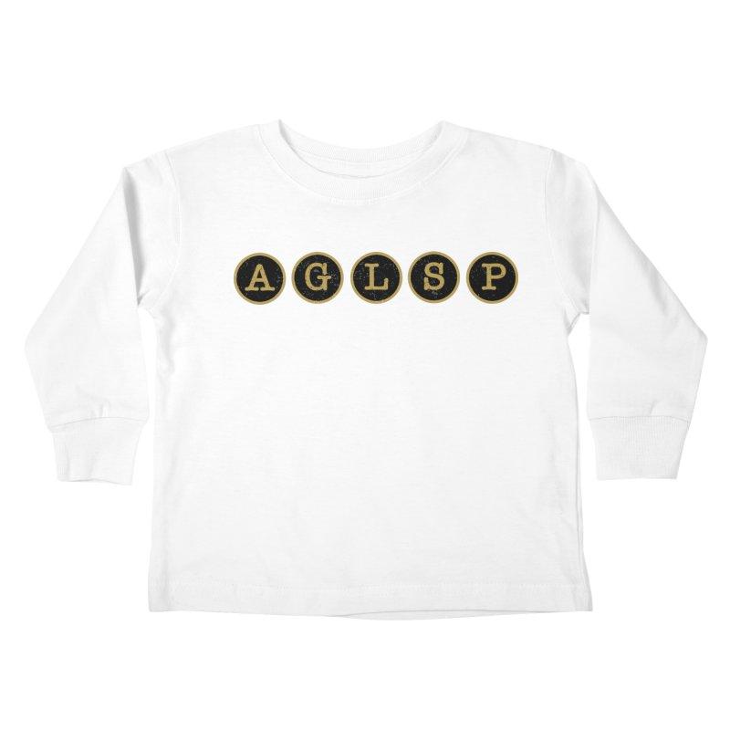 AGLSP Logo Sans Tagline Kids Toddler Longsleeve T-Shirt by AGLSP's Swag Shoppe